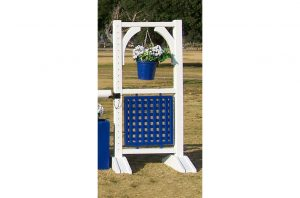 Flower Basket and Lattice 6ft Two Tone Jump Standards