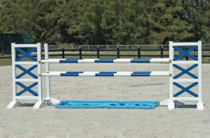 oxer jump with water hazard asa52
