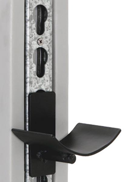 Aluminum keyhole tracks