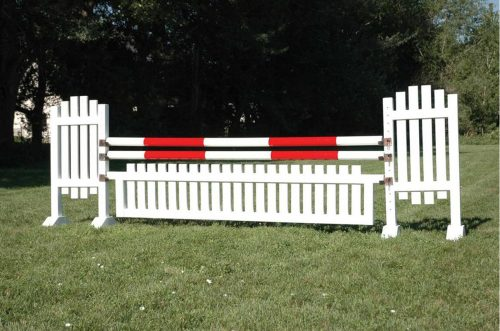burlingham sports 5ft solid color jump standards brown picket wing open picket jump asa25
