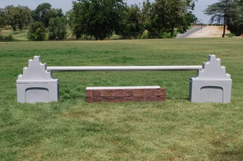 The Stacker and Stand with PolyWrap Pole and Stone Stacks