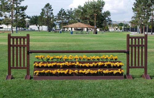 Flower Stairs with 820PF Picket Fence Wall