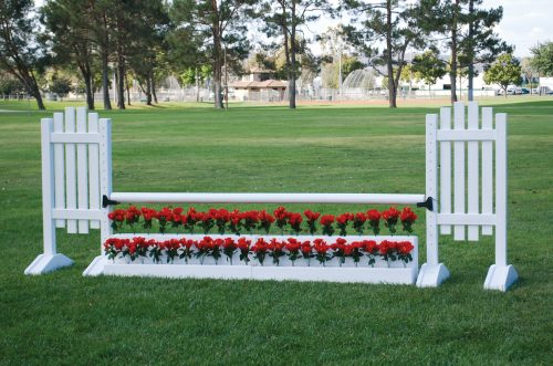 flower stairs in white with picket complete jump