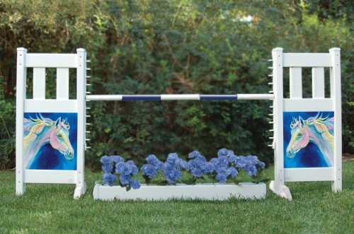 solid picket top jump set with dream pony and flower box