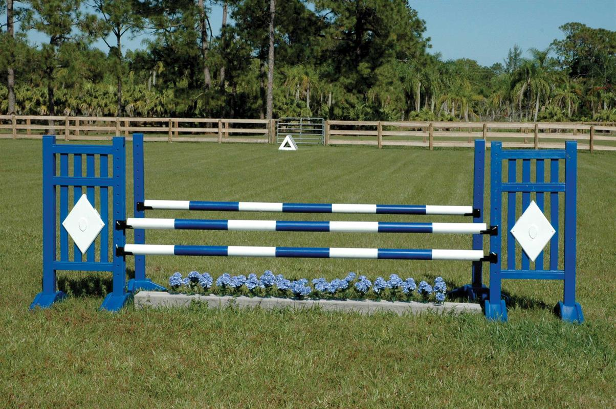 jump-assembly-BSA29-oxer-with-diamond-jump-standards