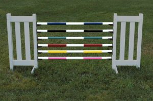 kid soft jump poles in black, yellow, blue, green, red, and pink