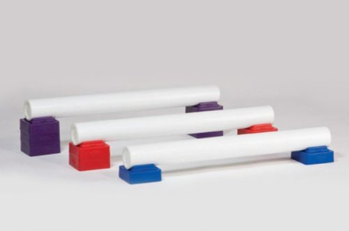 li'l stacker in purple, red, and blue