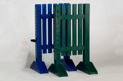 mini pony jump standards blue and green