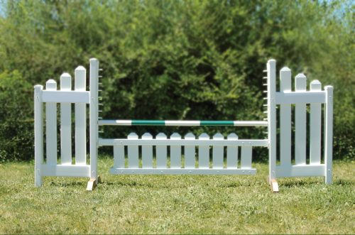 slant picket jump set and green soft pole
