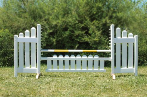 slant picket jump set and yellow soft pole