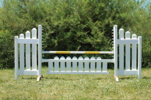 slant picket jump set and yellow soft pole