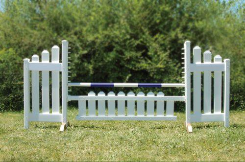 slant picket jump set and blue soft pole