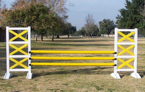 Yellow PolyWrap horse jump poles