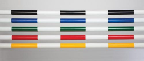 Molded-color stripes on the PolyWrap jump pole