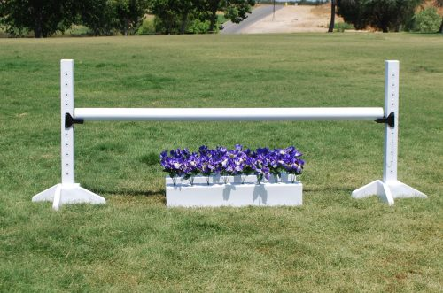 pony post standards with white pole