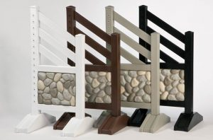 Stone Wall Jump Standards White Brown Grey and Black Colors