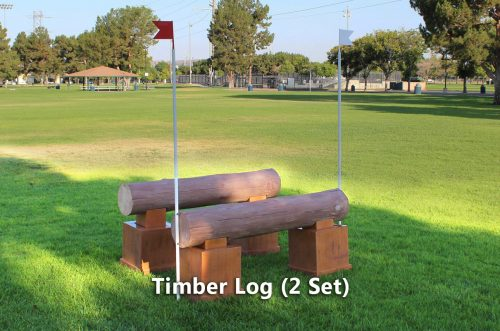 timber jump timber log set of 2
