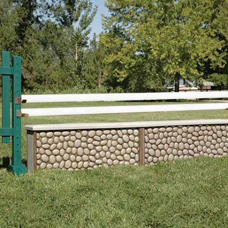 White painted wood horse jump poles