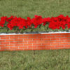 kid jump mini red brick wall graphic