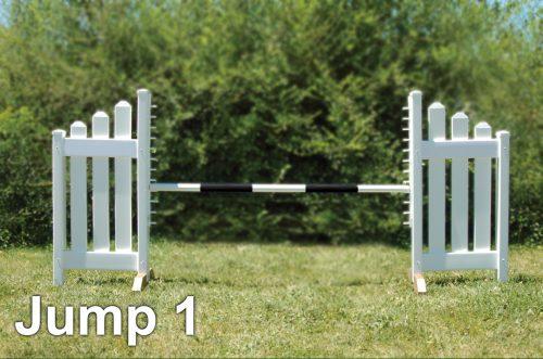 graphic panel jump package slant picket kid jump