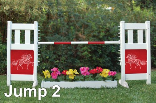 graphic panel jump package solid picket top with star pony graphic panel