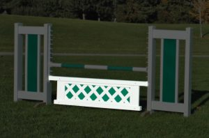 mini colored lattice gate in green