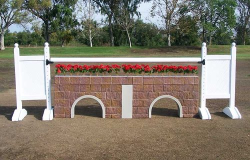 5' Solid color standards with Stone Culvert wall