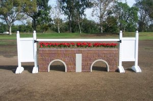 square panel 5ft solid color jump standards (pair)