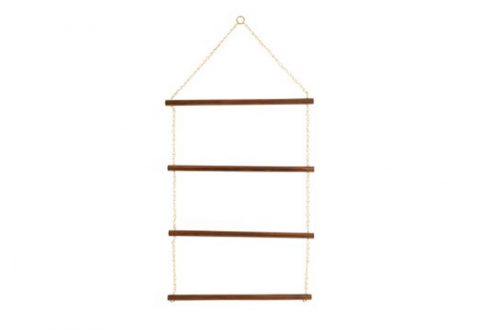 brass and wood blanket rack 4 tier