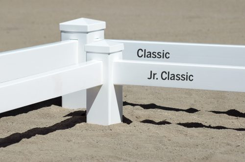 classic arena with post anchor 20 x 40 meter classic and junior classic rails