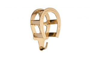 brass horseshoe rack