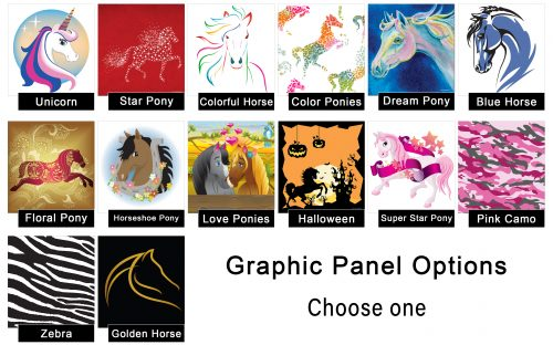 kid jumps graphic panel options
