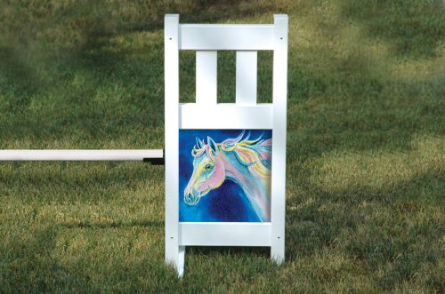 solid picket top jump set dream pony graphic panel