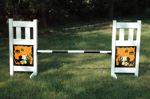 solid picket top jump set with halloween graphic panels