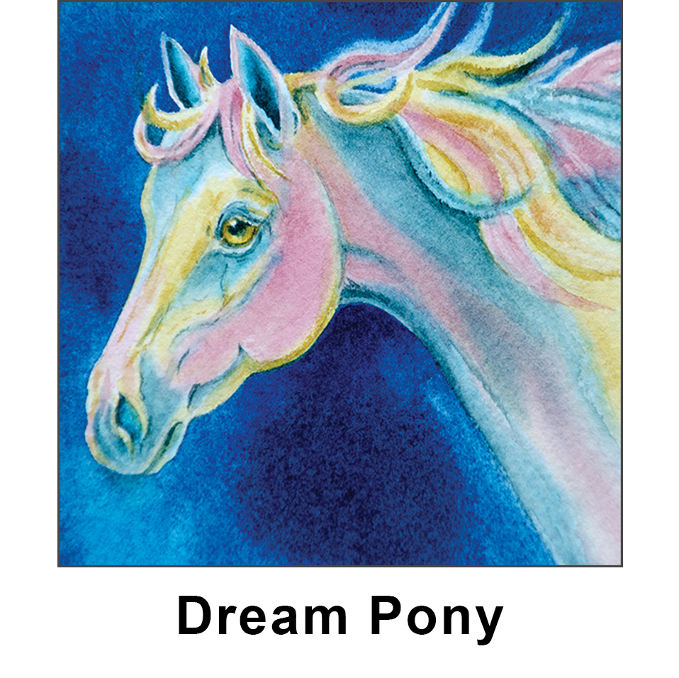 dream pony kid jump graphic panel