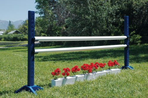training flower boxes with schooling standards and jump poles