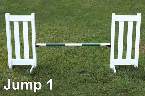 kids basic schooling jump course double picket jump