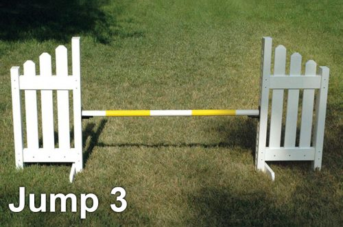 kids basic schooling jump course slant picket jump
