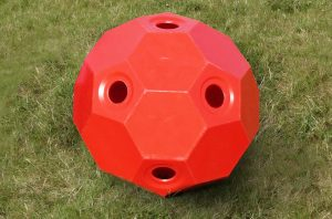 hay play 2 inch hole in red