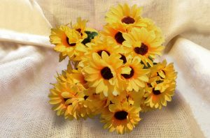 silk flowers sunflowers