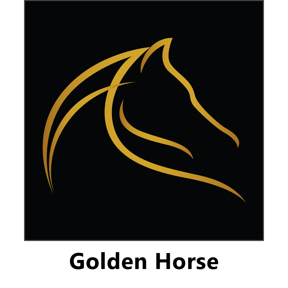 golden horse kid jump graphic