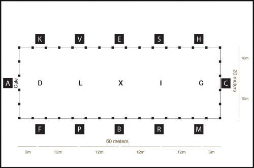 sundance arena 20 x 60 diagram