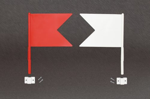 jump flags red and white