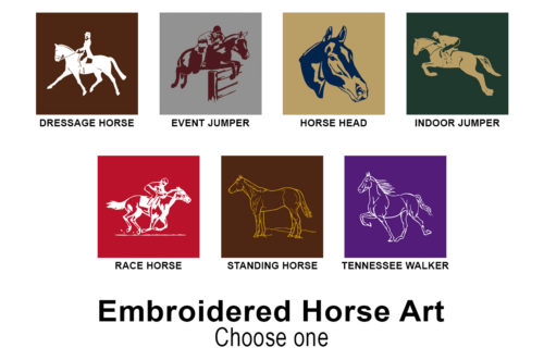 embroidery horse art