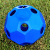 hay ball feeder in blue