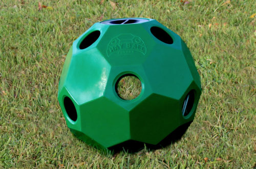 hay ball feeder in green