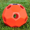 hay ball feeder in orange