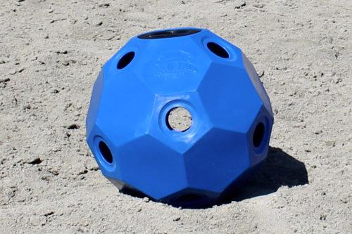 hay ball feeder 2 inch holes blue