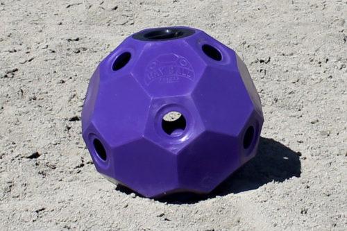 hay ball feeder 2 inch holes purple