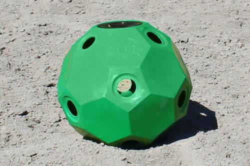 hay ball feeder green 2 inch holes